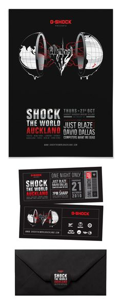 G-Shock: Shock The World Auckland by Andrew Fairclough, via Behance