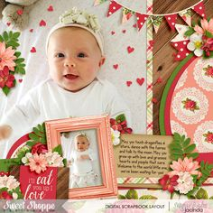 Cindy's Layered Templates - Half Pack 101: Photo Focus 45 by Cindy Schneider Fruit Stand: Strawberry Patch by Kristin Cronin-Barrow Font: KG When Oceans Rise