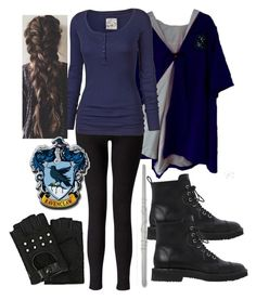"""""""Ravenclaw Tri-Wizard Cup-The Golden Egg Trial"""" by nattiexo ❤ liked on Polyvore featuring Miss Selfridge, Fat Face, Giuseppe Zanotti and Karl Lagerfeld"""
