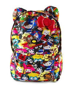 Red & Yellow Hello Kitty Street Fighter Backpack #zulily #zulilyfinds