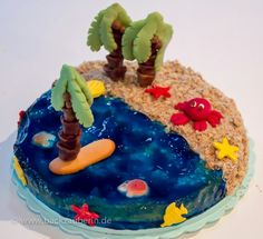 Strand und Meer Torte