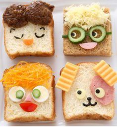 A whole lot of food art designs to make your kids smile, and hopefully eat their snacks. These incredible works of (food) art look too good to eat! Cute Food, Good Food, Yummy Food, Toddler Meals, Kids Meals, Baby Food Recipes, Cooking Recipes, Cooking Tips, Yogurt Recipes