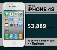 iPhone 4S a $3,889 pesos
