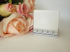 1 mtr x 1.3 cm Width Love Heart Blue & White Lace - Perfect for Wedding Invitations or bomboniere boxes! - Hall Occasions