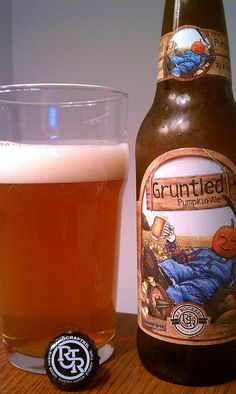 RJ Rockers Gruntled Pumpkin Ale - mine was much paler than this. Good general flavor but rather weak in pumpkin and spice. Wine And Liquor, Wine And Beer, Beer Brewing, Home Brewing, Booze Drink, Malt Beer, Pumpkin Beer, Cheap Beer, Beers Of The World