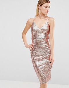Sequin Bardot Midi Dress - Silver City Goddess AiXei