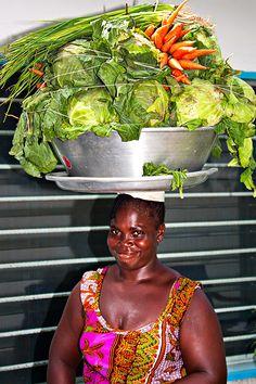 Fresh Vegetables for Sale  Ahotokurom, Cape-Coast, Ghana