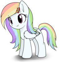 Rainbow dash and Soarin filly by hikariviny