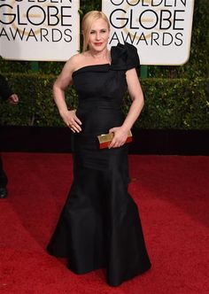 Patricia Arquette arrives at the 72nd annual Golden Globe Awards at the Beverly Hilton Hotel in Beverly Hills, Calif., on Jan. 11, 2015.