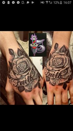 a7ff72e6563bf Cute Hand Tattoos, Rose Tattoos, Tribal Tattoos, Tattoo Designs, Tatto  Designs,