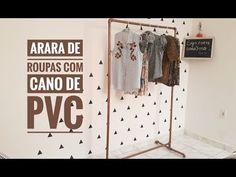 862a5691ef PVC PASSO A PASSO: ARARA DE ROUPA COM CANO DE PVC- DIY- FÁCIL E BARAT.