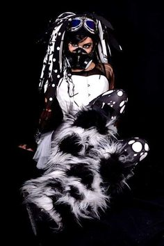 Rivethead, Cybergoth, Goth Girls, Cyberpunk, Techno, Science Fiction, Gothic, Darth Vader, Snakes