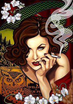 Audrey Horne fan art (artist unknown) via @TwinPeaksRevolu #TwinPeaks