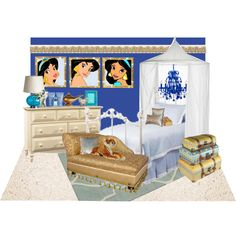 """Princess Jasmine Bedroom for Charlotte"" by coachaddict on Polyvore"