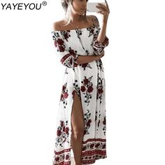Just listed our new  YAYEYOU New Summe.... Check it out!  http://sanphamre.myshopify.com/products/yayeyou-new-summer-womens-vintage-dress-floral-print-off-shoulder-split-tube-long-party-maxi-dress-beach-dresses?utm_campaign=social_autopilot&utm_source=pin&utm_medium=pin