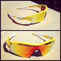 Radarlock custom Team Yellow Fire Iridium