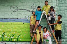 광영중학교 72m 긴 담벼락의 공간바꾸기 프로젝트