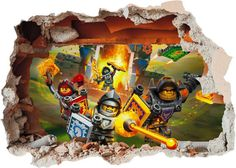 Lego Nexo Knights Hole in Wall Art Stickers Decal by Solosignsuk