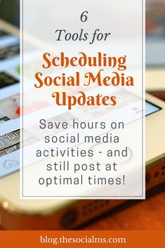 Scheduling Updates: 6 social media scheduling Tools That Keep Your Accounts Active While You Are Not, Learn how to schedule social media posts the easy way, there are some free social media scheduling tools - and some cost a little money. All the scheduling tools are worth the money.