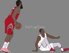 645d7f586e92  James Harden Crossover On Wesley Johnson  by RatTrapTees