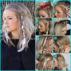 Designed by friend Chasity for a Coachella hairstyle but I'm loving it as an idea for May Day hair