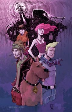 Scooby Gang by *Walter-Ostlie on deviantART   yo i would bang every body in this, (except daphne but her hair is still awesome). great expressions/colors
