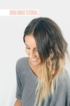 A boho braid for laid-back occasions.