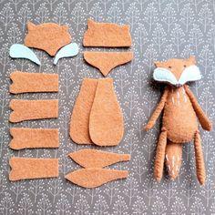 Felt fox stuffed animal, Felted miniature animals, Felt fox doll, Woodland animals, Miniature fox do Fox Stuffed Animal, Sewing Stuffed Animals, Stuffed Toys Patterns, Stuffed Fox, Felt Stuffed Animals, Fox Animal, Handmade Stuffed Animals, Felt Crafts, Fabric Crafts