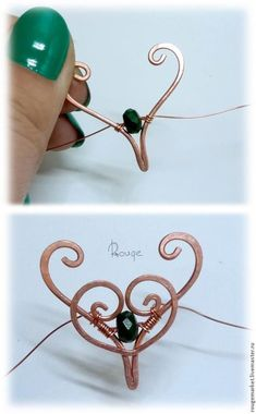 Tutorial-Wire Earrings by Katherine Dennis - Wire Jewelry Making, Jewelry Making Tutorials, Wire Wrapped Jewelry, Jewellery Making, Wire Jewelry Designs, Metal Jewelry, Jewlery, Diamond Jewelry, Wire Crafts