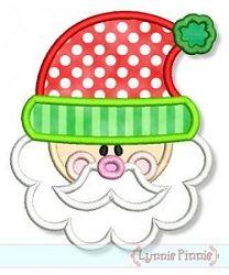 Cute Santa Applique - 4 Sizes! | Christmas | Machine Embroidery Designs | SWAKembroidery.com Lynnie Pinnie
