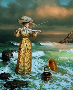 Michael Cheval - Song of the Island Sirens - Oil on Canvas
