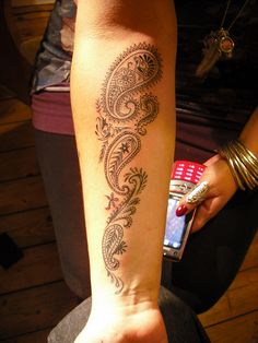 Paisley Tattoo by Lazarus Tattoo, via Flickr