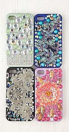 Sparkly Cases for iPhone 4/4s. I want one!
