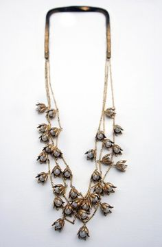 Vintage Lily of the Valley Bar Chain Necklace