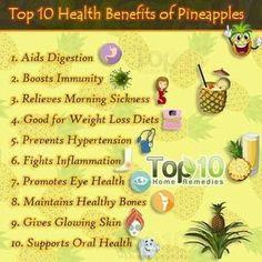Health benefits of pineapple!