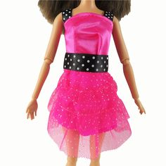 1 Pcs Fashion Short Dress Beautiful Handmade Party Outfit Barbie Doll Clothes For Barbie Dolls Dress Girl's Gift For Kids #020A-in Dolls Accessories from Toys & Hobbies on Aliexpress.com | Alibaba Group