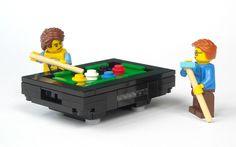 LEGO Express — legozz: Billiard Table (by mijasper) Hama Beads Minecraft, Perler Beads, Lego City, Legos, Lego Sports, Lego Furniture, Lego Craft, Lego For Kids, Lego Modular