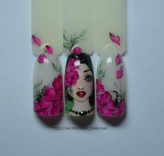 Flower Nails, Nail Flowers, Gel Nails, Manicure, Super Cute Nails, Nail Art Pictures, Nail Shop, Nail Designs, Hair Beauty