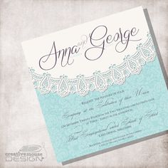 Lace Vintage Wedding Invitation DIY