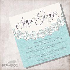 Lace Vintage Wedding Invitation DIY