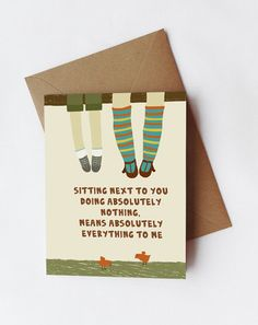 425x55 inchGreeting card Sitting next to you by Gayana on Etsy, $3.50