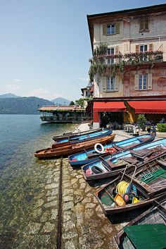 The island of San Giulio, Italy