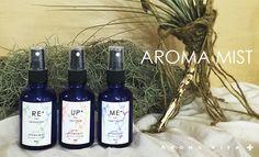 【AROMA MIST (無添加天然アロマミスト)60ml ¥2.000】五感の中で最も原始的で本能的な「嗅覚」。香りはダイレクトに感情や本能を支配する脳に作用します。天然原料のみのシンプルなレシピで作られた香りを感じ、あなたのこころ・からだと向き合うひと時をお楽しみ下さい。<取扱|AROMA VITA+> Mists, Wine, Lifestyle, Bottle, Flask