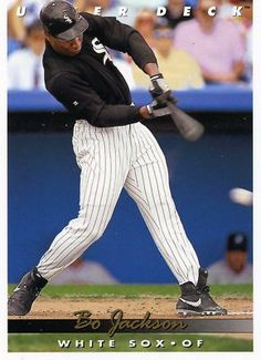 RARE 1993 UPPER DECK BO JACKSON CHICAGO WHITE SOX MINT