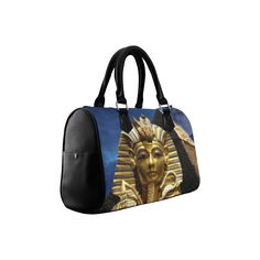 King Tut and Pyramid Boston Handbag. FREE Shipping. #artsadd #bags #kingtut