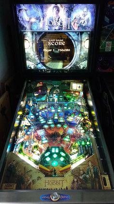 The Hobbit's pinball machine playfield