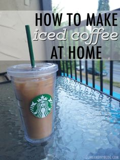 how to make starbucks drinks at home - How To Make Iced Coffee At Home Iced Coffee At Home, Iced Coffee Drinks, Easy Coffee, Coffee Blog, Starbucks Drinks, Starbucks Iced Coffee, Hot Coffee, Coffee Cups, Frozen Coffee
