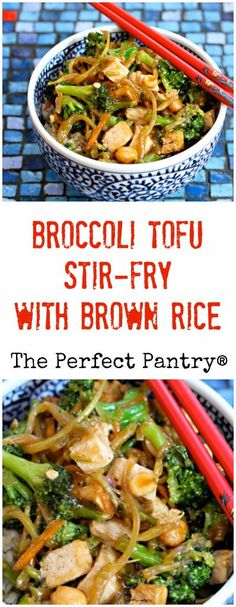 Make this broccoli tofu stir-fry with brown rice, for a rich, nutty ...