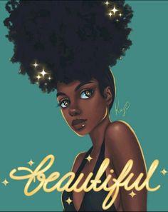Black Girl Art - Her Crochet Black Love Art, Black Girl Art, My Black Is Beautiful, Black Girls Rock, Black Girl Magic, Art Girl, Black Girl Quotes, Beautiful Body, Natural Hair Art
