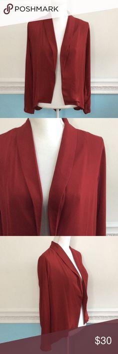 Eyeshadow Silk-like Blazer Blouse In great condition! Size medium Bonton Jackets & Coats Blazers